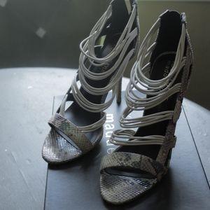 Snakeprint Holographic heels